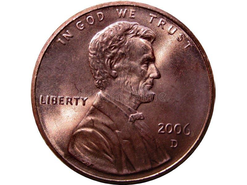 Pièce de monnaie de penny image libre de droits