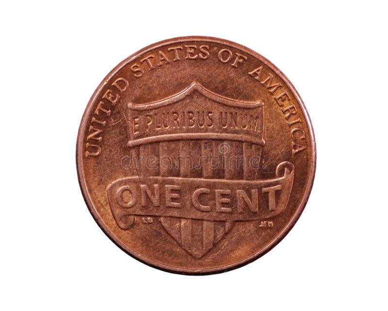 Pièce de monnaie de penny d'écran protecteur des USA photographie stock libre de droits
