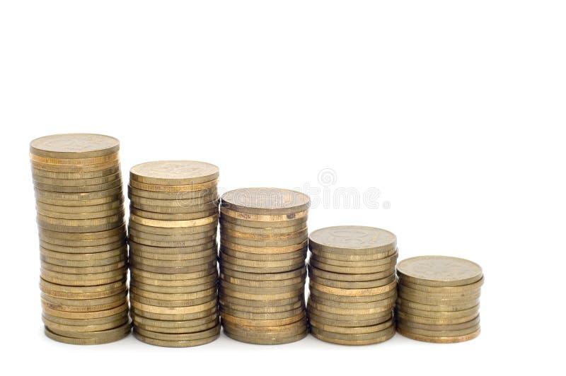Pièce de monnaie de rouble image stock