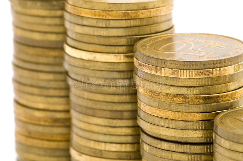 Pièce de monnaie de rouble photos stock