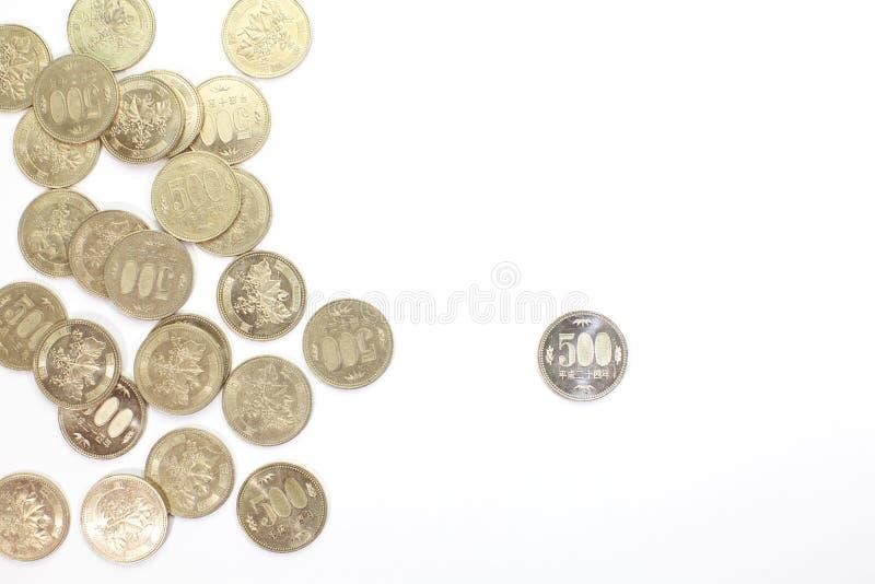 pièce de monnaie de 500 Yens photo stock