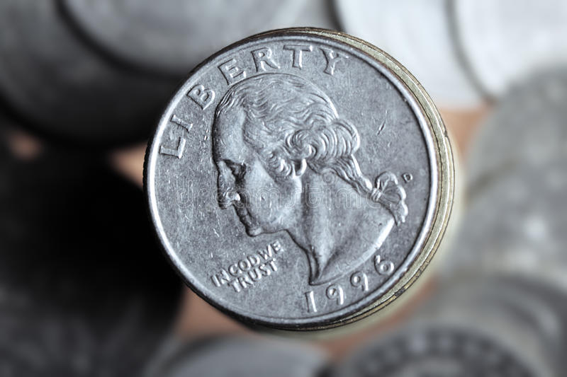 Pièce de monnaie des USA photo libre de droits