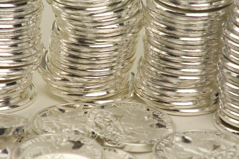 Pièce de monnaie empilée images stock