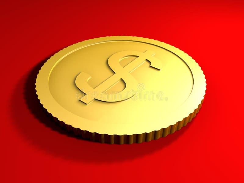 Pièce de monnaie générique du dollar illustration libre de droits