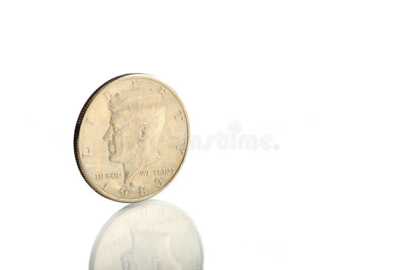 Pièce de monnaie JFK images stock