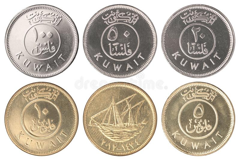 Pièce de monnaie Kowéit Fils photos stock