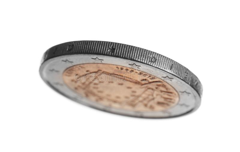 Pièce de monnaie letton de l'euro deux photographie stock