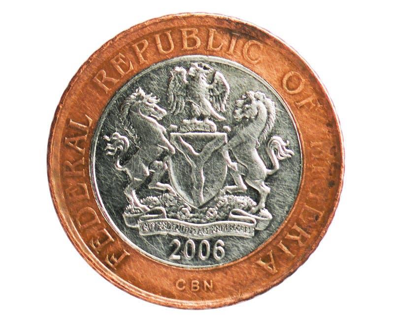 Pièce de monnaie de 2 Naira, 1973~1986 - 1er serie de circulation de Naira, banque du Nigéria images stock