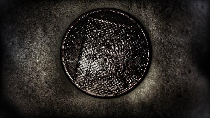 pièce de monnaie 2p image libre de droits
