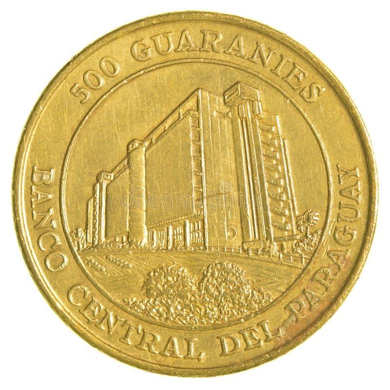 Pièce de monnaie paraguayenne de 500 guaranies photographie stock libre de droits