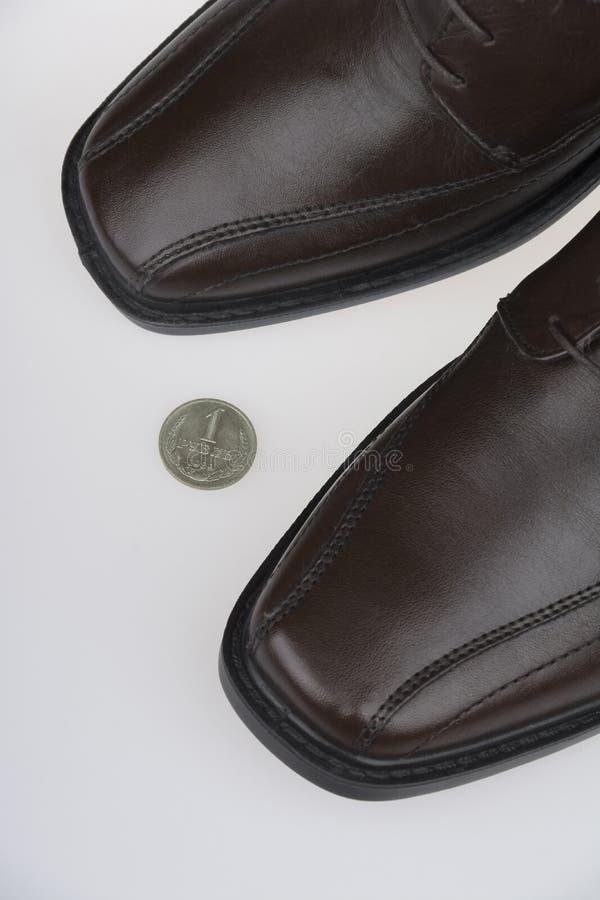 Pièce de monnaie perdue photographie stock libre de droits