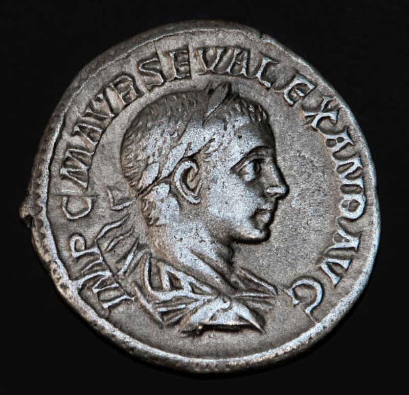 Pièce de monnaie romaine antique GETA image stock