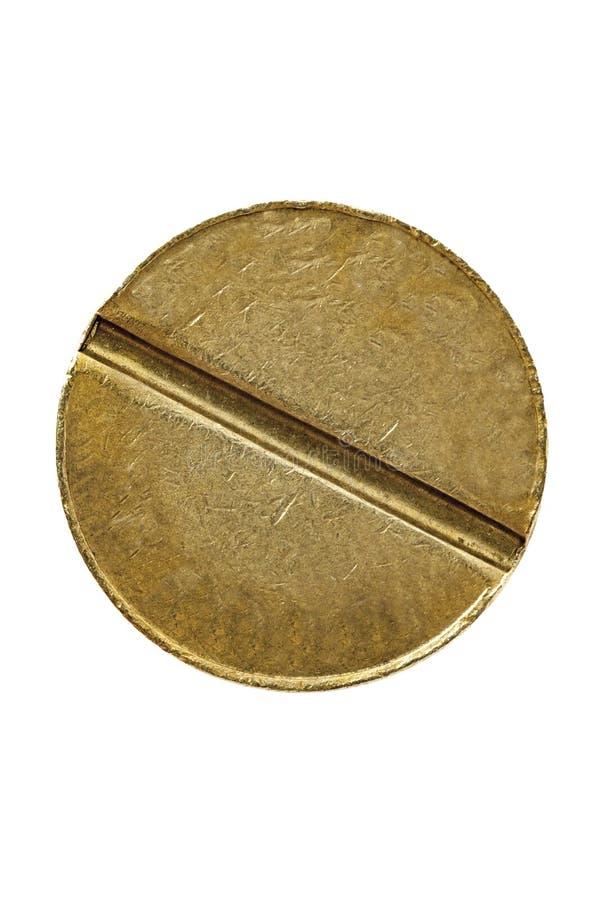 Pièce de monnaie symbolique classique d'isolement images stock