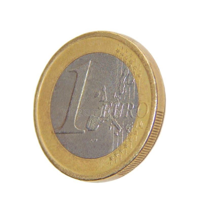 Pièce de monnaie un EURO image stock