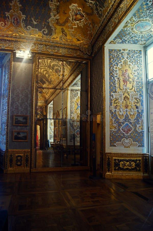 Pièce de Palazzo Madama Four Seasons de palais royal de Taly Turin photographie stock