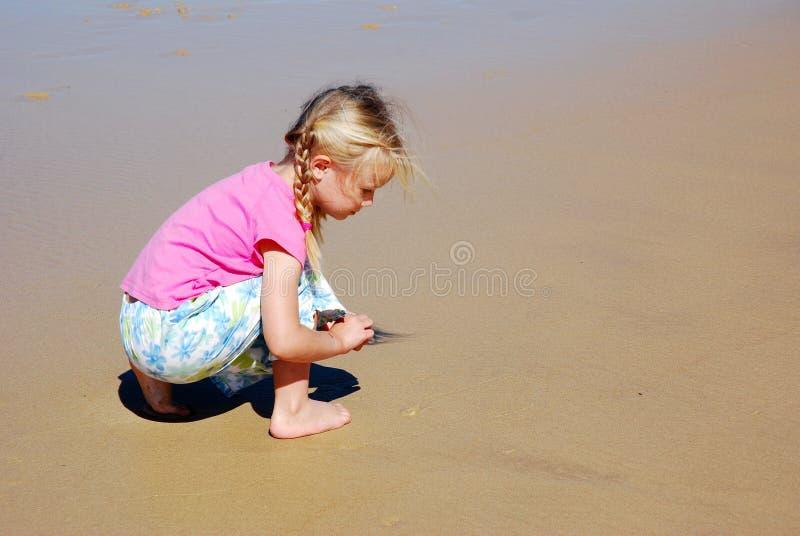 Pièce de plage de fille photo libre de droits