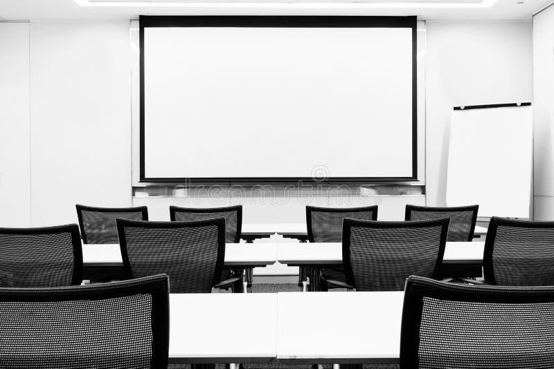 Pièce de présentation de séminaire de réunion d'affaires photos stock