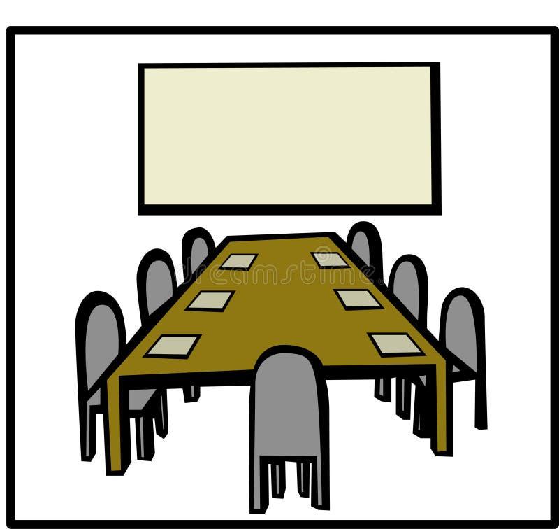 Pièce de réunion d'affaires illustration de vecteur