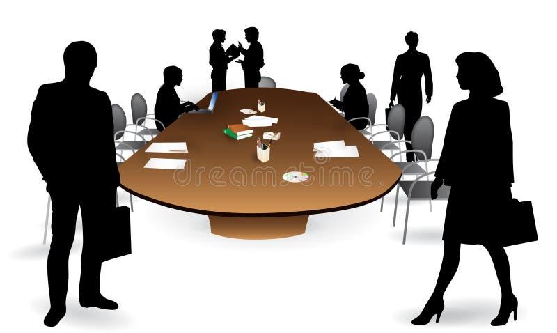 Pièce de réunion d'affaires illustration stock