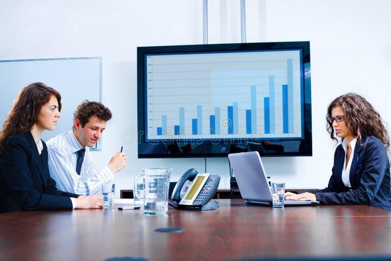 pièce de réunion d'affaires de panneau images stock