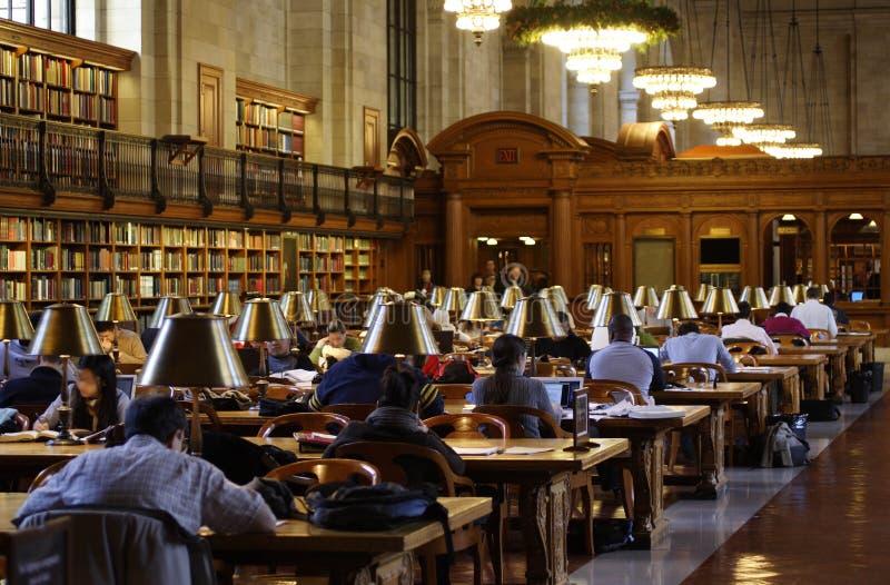 Pièce de relevé de bibliothèque publique de New York images stock