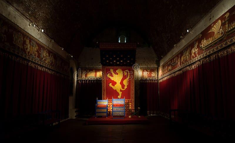 Pièce de trône de rois de château de Douvres photos libres de droits