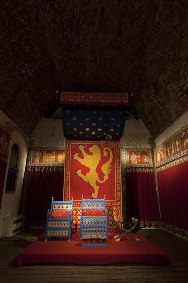 Pièce de trône de rois de château de Douvres image libre de droits