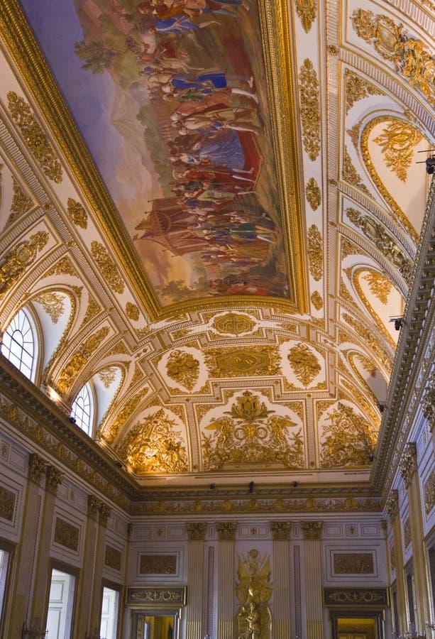 Pièce de trône des Di Caserte de Reggia photo stock
