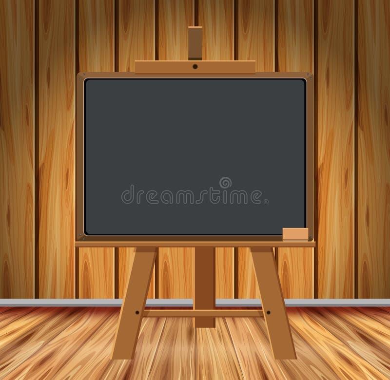 Pièce en bois avec le tableau illustration de vecteur