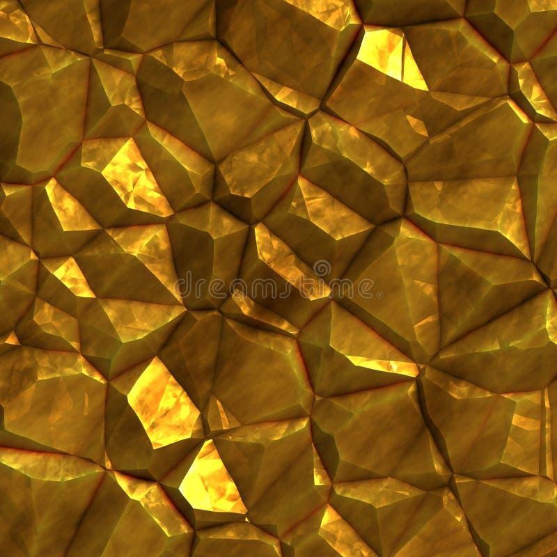 Pièce en or minerai illustration libre de droits