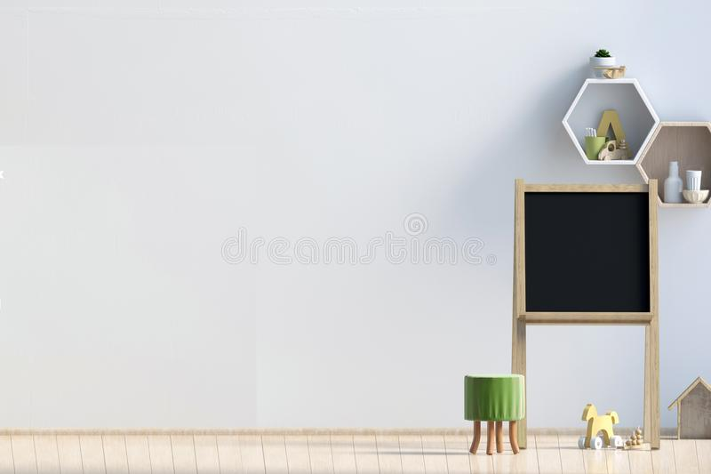 Pièce en pastel du ` s d'enfant playroom Style moderne illustration 3D WA illustration de vecteur