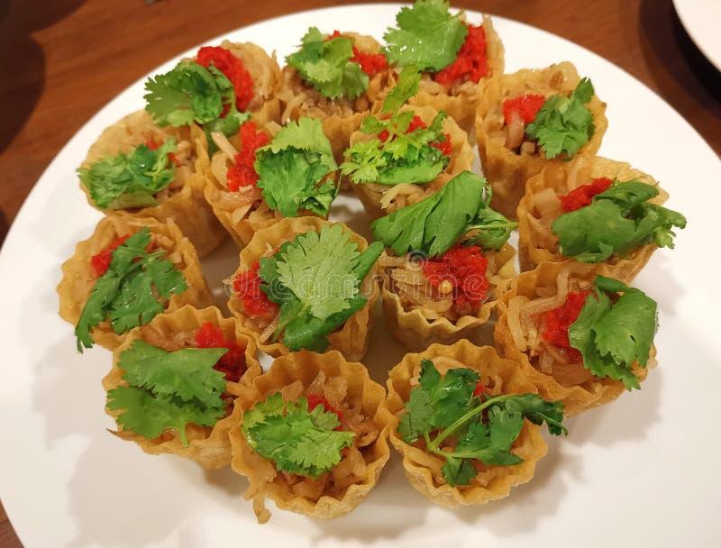 Pièce en t de tarte de Nonya Kuih photographie stock