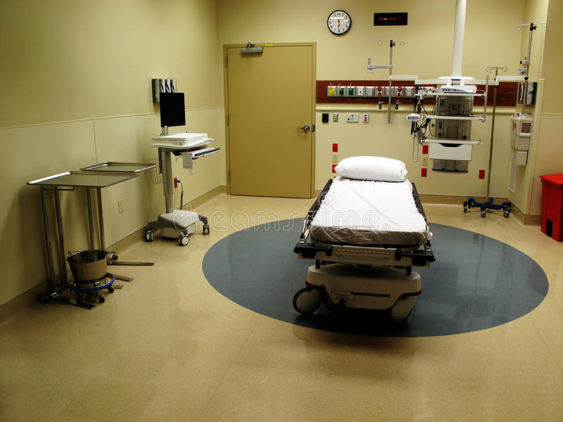 Pièce et bâti d'hôpital photographie stock libre de droits