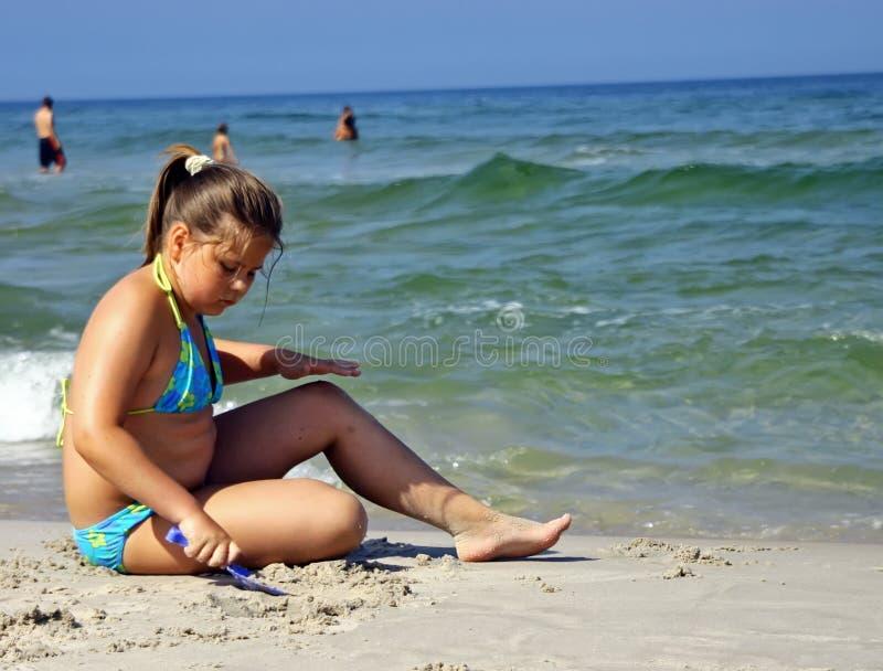 Pièce isolée de sable photo libre de droits