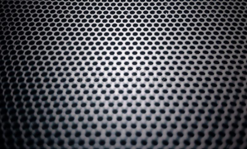 pièce métallique de maille de microphone et de haut-parleur image stock