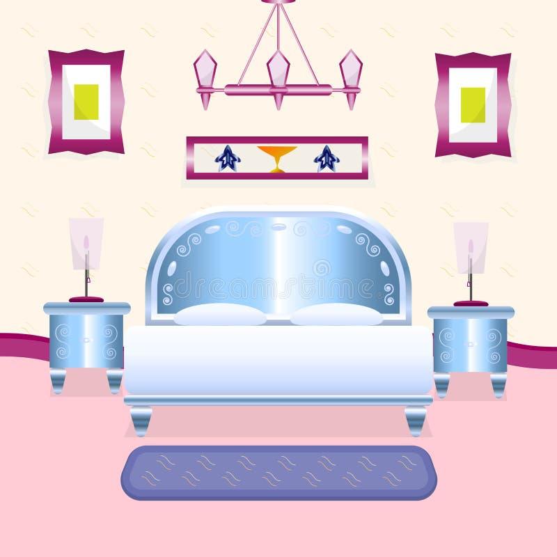 Pièce merveilleuse de lit illustration stock