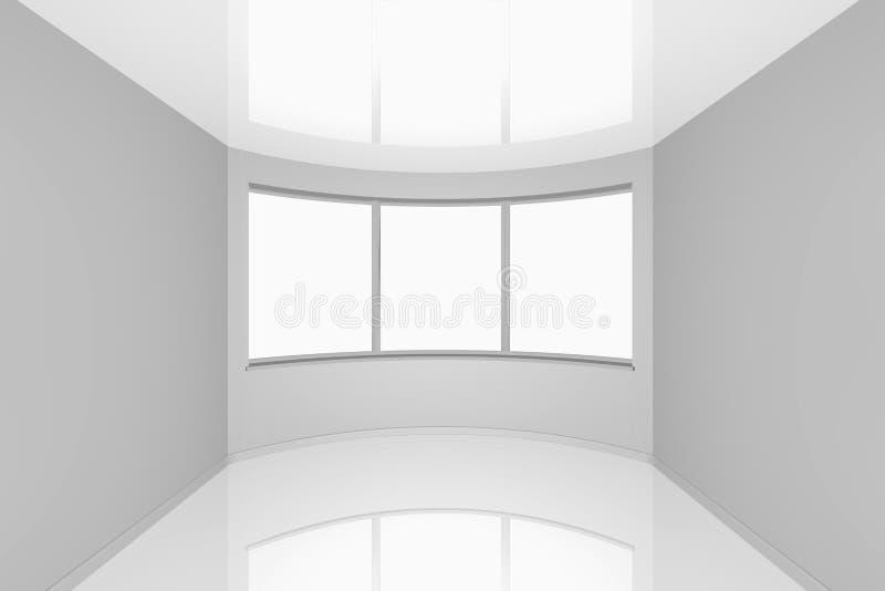Pièce neuve vide avec une fenêtre en saillie illustration de vecteur