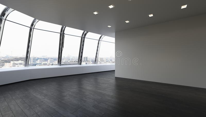Pièce non meublée vide en appartement moderne illustration stock