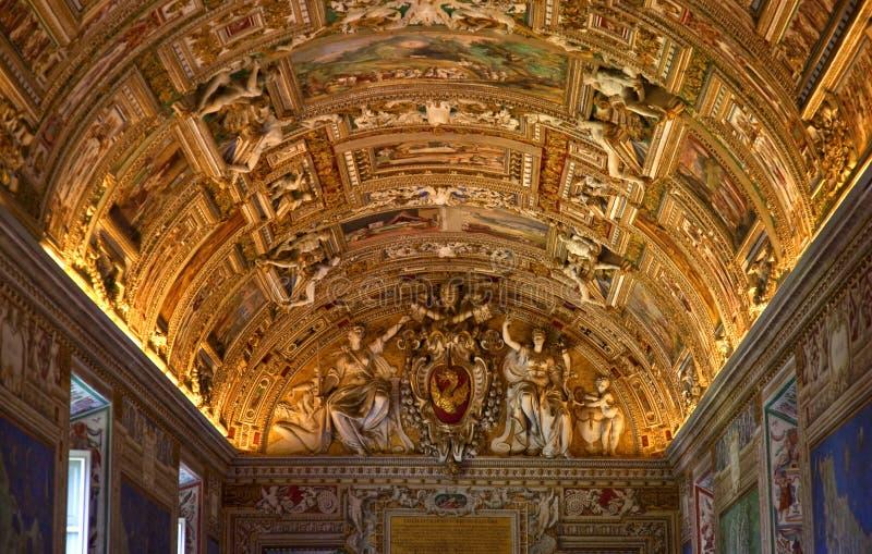Pièce Rome Italie de carte de musée de Vatican photos stock