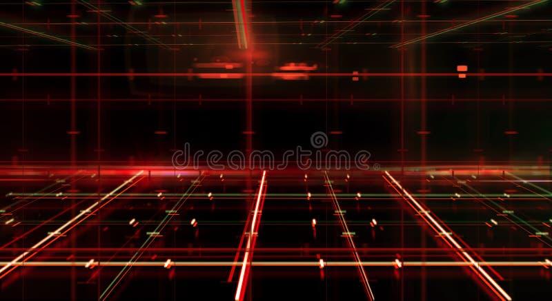 Pièce rouge futuriste illustration stock
