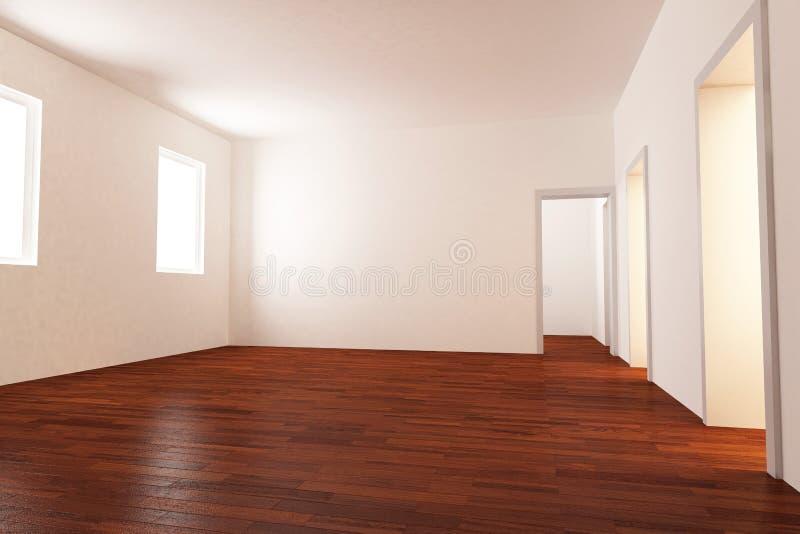 Pièce vide avec l'étage de parquet illustration de vecteur