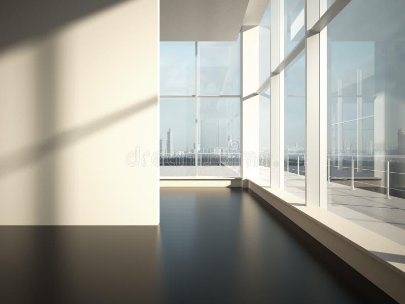 Pièce vide avec la lumière du soleil photo libre de droits