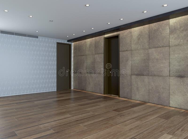 Pi ce vide avec le mur en pierre et le plancher de parquet illustration stock illustration du - Pierre et parquet ...