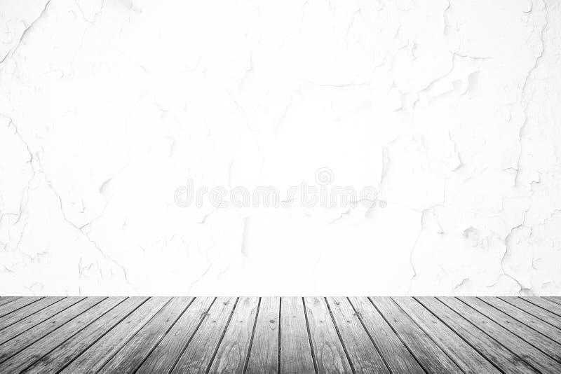 Pièce vide de mur grunge et de plancher en bois photos stock