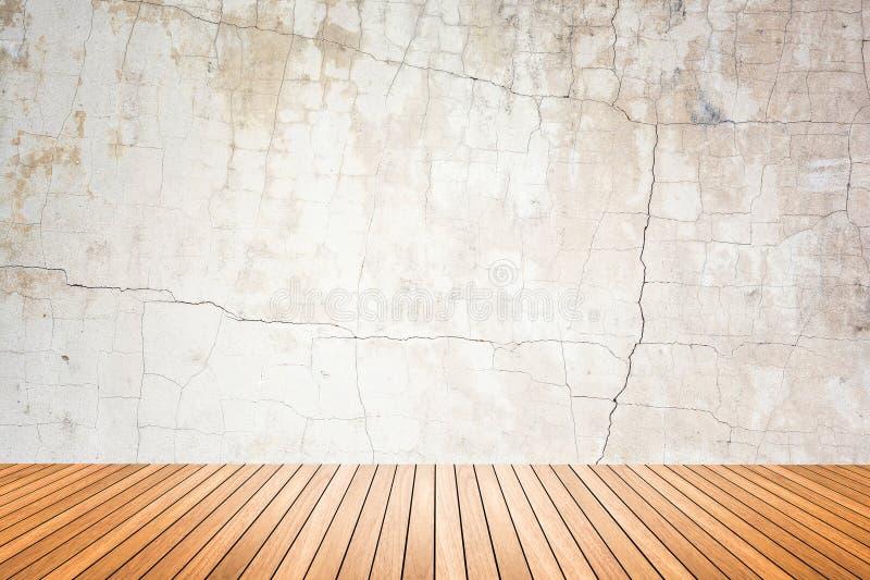 Pièce vide de plancher grunge de mur et en bois images libres de droits