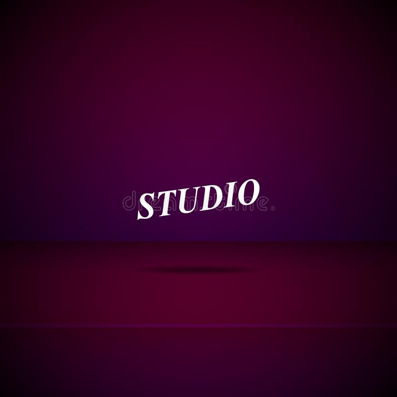 Pièce vide de studio illustration de vecteur