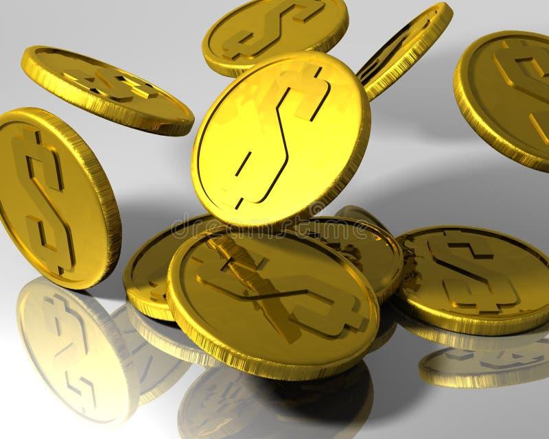 Pièces d'or illustration de vecteur