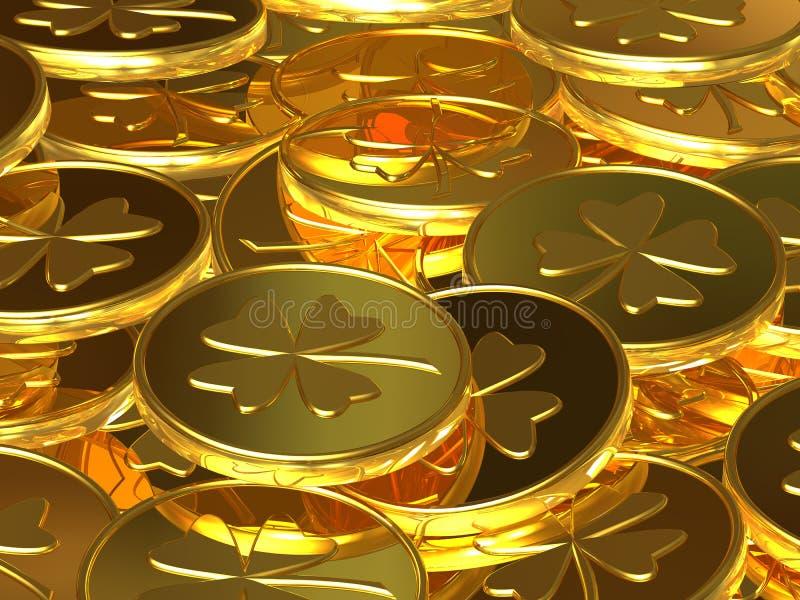 Pièces d'or illustration libre de droits