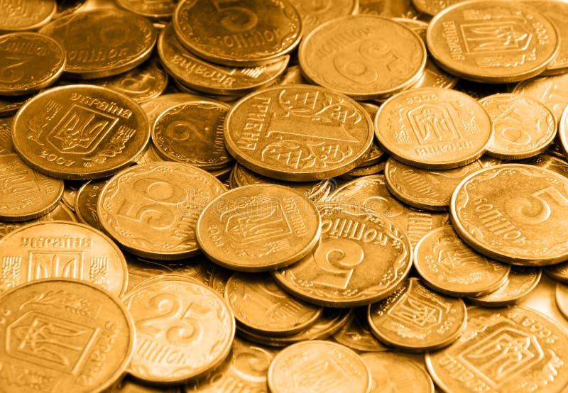 Pièces d'or comme fond ou texture photos libres de droits