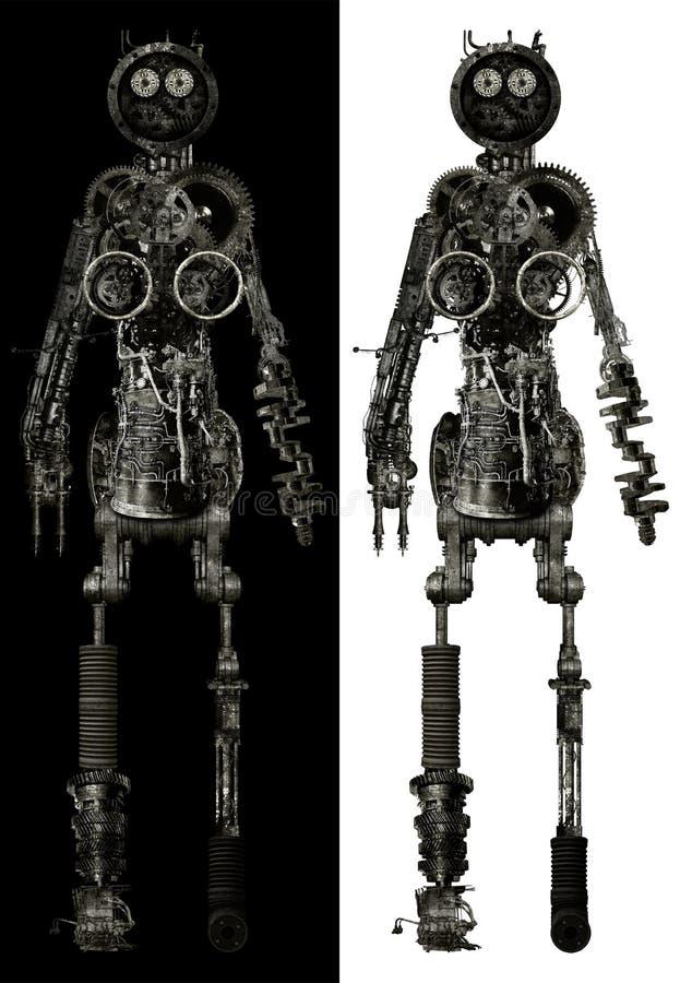 Pièces de corps humain mécaniques d'isolement photos stock